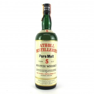 Atholl Distilleries 5 Year Old Pure Malt 1970s