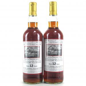 Bruichladdich 2002 The Hogshead Club Whisky 12 Year Old 2 x 70cl