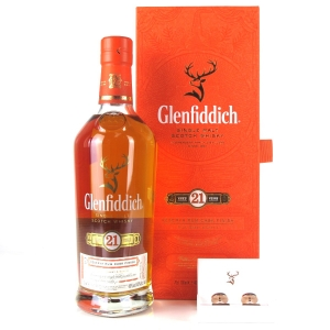 Glenfiddich 21 Year Old Reserva Rum Finish / includes Cufflinks