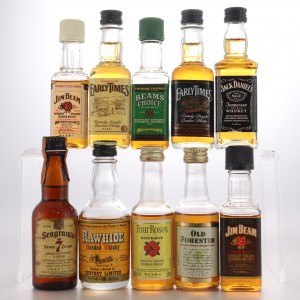 American Whisky Miniatures x 10