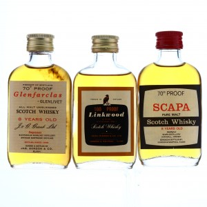 Gordon and MacPhail Miniatures x 3 1970s