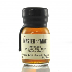 Macallan 1987 Master of Malt 29 Year Old Miniature 3cl