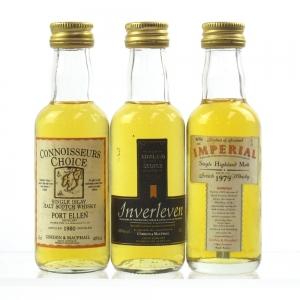 Closed Distillery Minitures 3 x 5cl / Including Port Ellen 1980