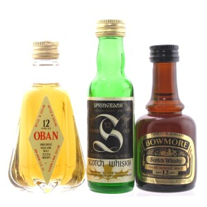Single Malt Miniature Selection x 3 / includes Springbank 12 Year Old 1970s