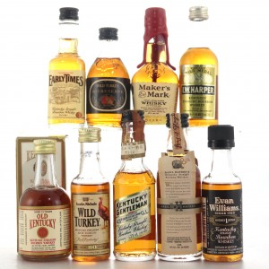American Whiskey Miniatures x 9