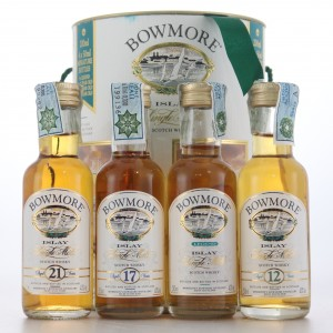 Bowmore Miniatures x 4 / includes 21 Year Old