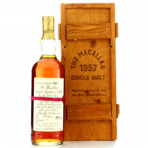 Macallan 1957 Handwritten Label / Rinaldi 25th Anniversary