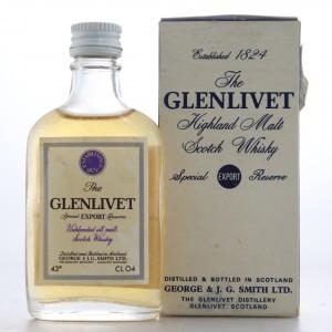 Glenlivet Special Export Reserve 1960s Miniature 4cl / Baretto Import
