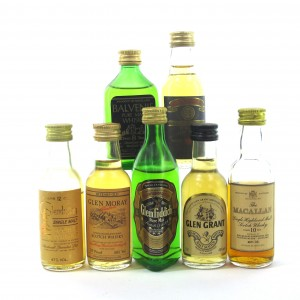 Miscellaneous Speyside Single Malt Selection 7 x Miniatures / Including Macallan 10