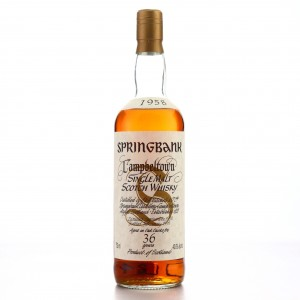 Springbank 1958 36 Year Old 75cl / US Import