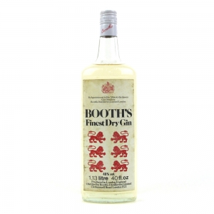 Booth's Finest Dry Gin 1970s 40 Fl Oz