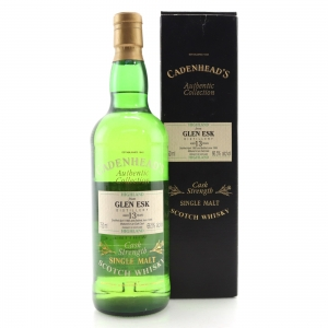Glen Esk 1982 Cadenhead's 13 Year Old 75cl / US Import