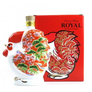 Suntory Whisky Royal Blend / Ceramic Rooster Decanter