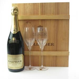 Bollinger 1985 Grande Annee Brut Champagne Gift Set / Including 2 Glasses