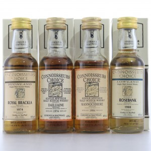 Gordon and MacPhail Miniature Selection x 4 / Includes Rosebank 1988