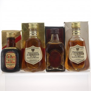 Whisky Miniature Selection x 4 / includes Cardhu 12 Year Old