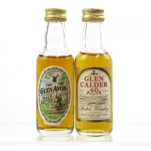 Glen Calder 40 Year Old and Glen Avon 25 Year Old Miniatures 2 x 5cl