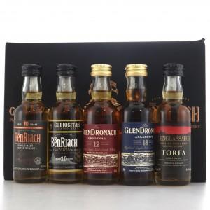 Glendronach, Glenglassaugh & Benriach Miniature Selection 5 x 5cl