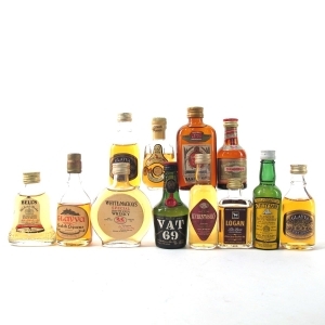 Miscellaneous Whisky Miniatures Selection 12 x 5cl