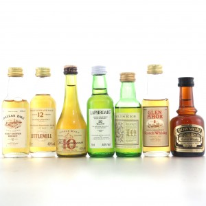 Miscellaneous Miniature Selection 7 x 5cl / Includes Littlemill 12 Year Old