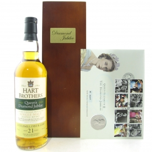 Littlemill 21 Year Old Hart Brothers Queen's Diamond Jubilee / with Commemorative Coin