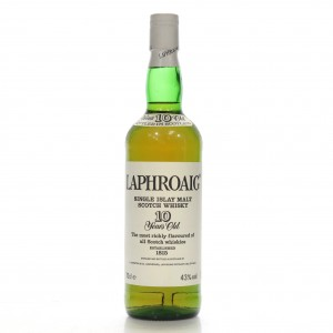 Laphroaig 10 Year Old Pre-Royal Warrant / French Import