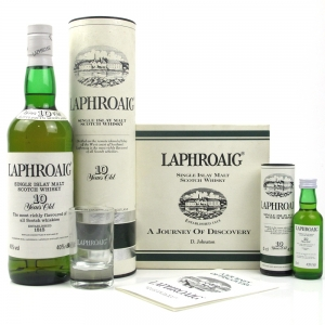 Laphroaig 10 Year Old - Pre Royal Warrant / Including Miniature Gift Set