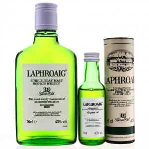 Laphroaig 10 Year Old Pre-Royal Warrant 20cl & Miniature