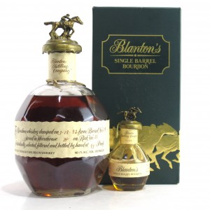Blanton's Single Barrel Bourbon Dumped 1992 / Including Blanton's Miniature 5cl