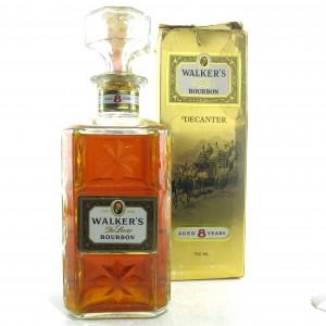 Walker's 8 Year Old De Luxe Bourbon Decanter 1970s