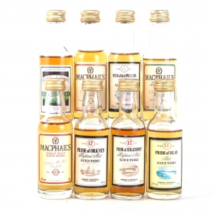 Miscellaneous Gordon and MacPhail Miniatures 8 x 5cl / Including MacPhail's 24 Year Old Pure Malt