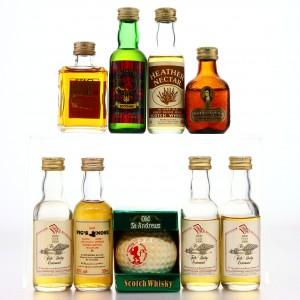 Scotch Whisky & Liqueur Miniatures x 9