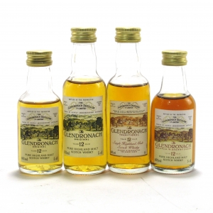 Glendronach 12 Year Old Miniatures 4 x 5cl 1990s