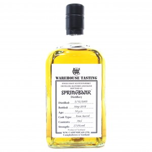 Springbank 2003 Rum Barrel 14 Year Old / Warehouse Tasting