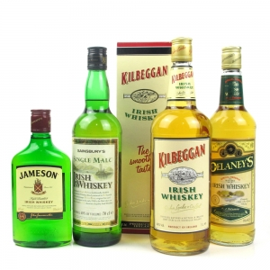 Irish Whisky Collection x 4 / Including 50cl, 70cl, 70cl, 1 Litre