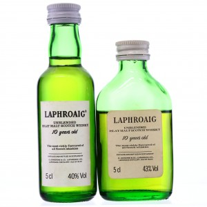 Laphroaig 10 Year Old Miniatures x 2 1980s