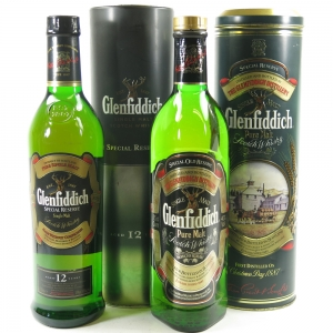 Glenfiddich 12 Year Old 70cl and Pure Malt 75cl