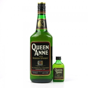 Queen Anne Rare Scotch Circa 1970s Including Miniature