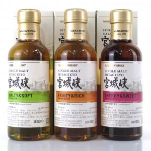 Miyagikyo Sherry & Sweet / Malty & Soft / Fruity & Rich 3 x 18cl