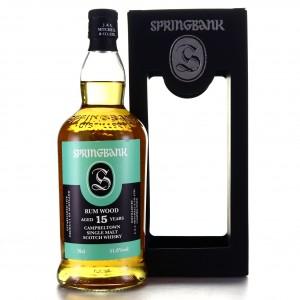 Springbank 2003 Rum Wood 15 Year Old