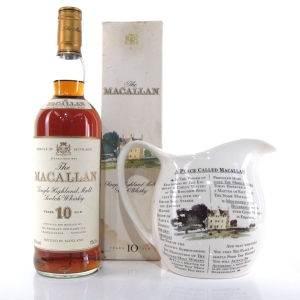 Macallan 10 Year Old 1980s / Including Water Jug