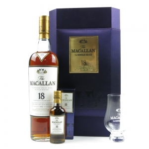 Macallan 1992 18 Year Old Gift Set 70cl and 5cl