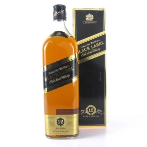 Johnnie Walker Black Label 12 Year Old 1 Litre