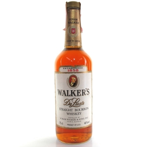 Walker's De Luxe Straight Bourbon 1980s