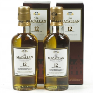 Macallan 12 Year Old Miniatures 5cl x 2