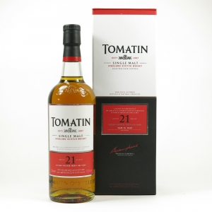 Tomatin 21 Year Old Front