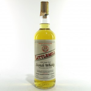 Littlemill 12 Year Old Full Proof 1980s / F&G Import