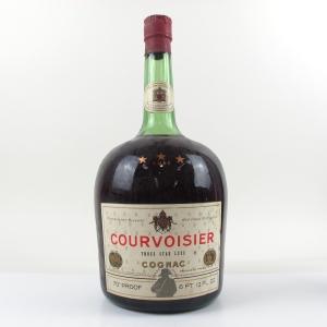 Courvoisier 3 Star Cognac 1970s 6 Pt. 12 Fl. Oz