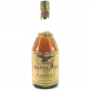 Langeac 5 Star Napoleon Brand Brandy 1960s