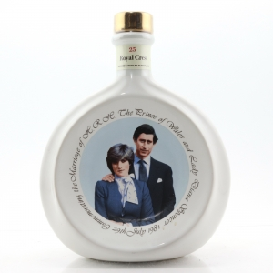 Royal Crest '25' Decanter / Royal Wedding 1981